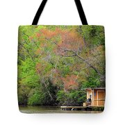 Houseboat On The Apalachicola River Tote Bag