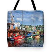 Houseboats - 3 - Lake Union - Seattle Tote Bag