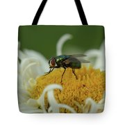 Housefly On Daisy Tote Bag