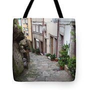 Houses Along Alley In The Old Town Of Porto Tote Bag