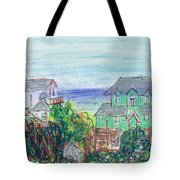 Houses At Whalehead Beach Tote Bag