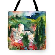 Houses In Montepulciano In Tuscany 01 Tote Bag