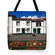 Houses In The Azores Tote Bag