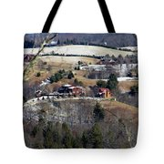 Houses On The Mountains Tote Bag