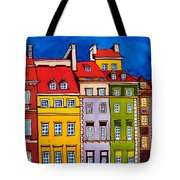 Houses In The Oldtown Of Warsaw Tote Bag