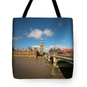 Houses Of Parliament And Westminster Bridge Tote Bag