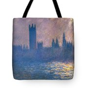 Houses Of Parliament - Sunlight Effect Tote Bag