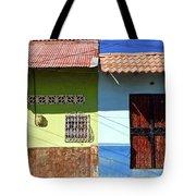 Houses On Street In Leon, Nicaragua Tote Bag