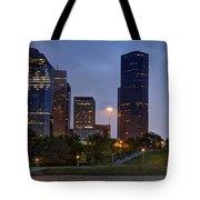 Houston Nighttime Skyline Tote Bag