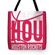 Houston Rockets City Poster Art Tote Bag