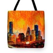Houston Skyline 119 - Pa Tote Bag