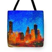 Houston Skyline 130 - Pa Tote Bag