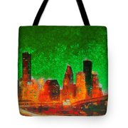 Houston Skyline 133 - Pa Tote Bag