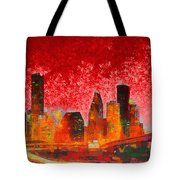 Houston Skyline 134 - Pa Tote Bag