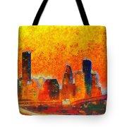 Houston Skyline 135 - Pa Tote Bag