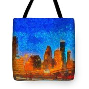 Houston Skyline 40 - Pa Tote Bag