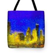 Houston Skyline 45 - Pa Tote Bag
