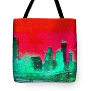 Houston Skyline 47 - Pa Tote Bag