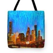Houston Skyline 80 - Pa Tote Bag