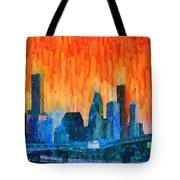 Houston Skyline 81 - Pa Tote Bag