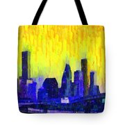 Houston Skyline 83 - Pa Tote Bag