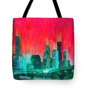 Houston Skyline 91 - Pa Tote Bag