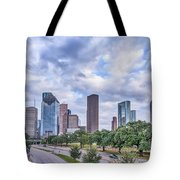 Houston Skyline View Tote Bag