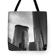 Houston Skyscrapers Black And White Tote Bag