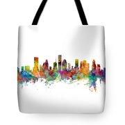 Houston Texas Skyline Panoramic Tote Bag