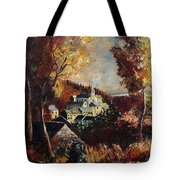 Houyet Village Belgium Tote Bag