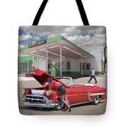 Over Heating At The Sinclair Station Tote Bag