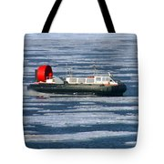 Hovercraft On Frozen Artic Ocean Tote Bag