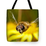 Hoverfly In Flight Tote Bag