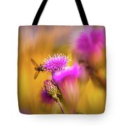Hoverfly Thistle #g7 Tote Bag