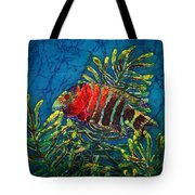 Hovering - Red Banded Wrasse Tote Bag