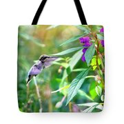 Hovering Hummingbird Tote Bag