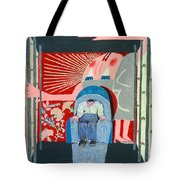 Hovering Woman Tote Bag