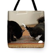 How Cat Fights Start Tote Bag