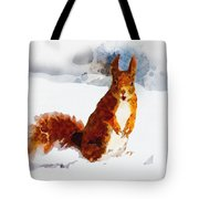How Comedic Are Squirrels Tote Bag