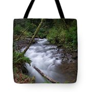 How The River Flows Tote Bag