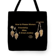 How To Please Women Tote Bag