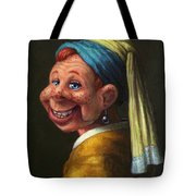 Howdy With A Pearl Earring Tote Bag