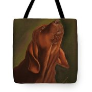 Howling Bloodhound Tote Bag