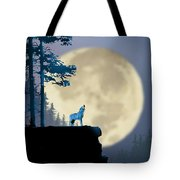 Howling Coyote Tote Bag