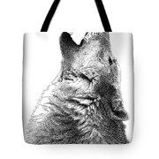 Howling Timber Wolf Tote Bag