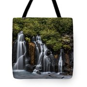 Hraunfossar In The Gloom Tote Bag