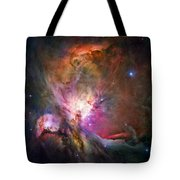 Hubble's Sharpest View Of The Orion Nebula Tote Bag by Adam Romanowicz