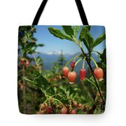 Huckleberry Flowers Atop Huckleberry Mountain In Glacier National Park Montana Tote Bag