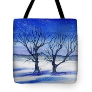 Huddled On A Snowy Field.  Tote Bag