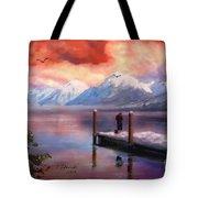 Hudson Bay Winter Fishing Tote Bag